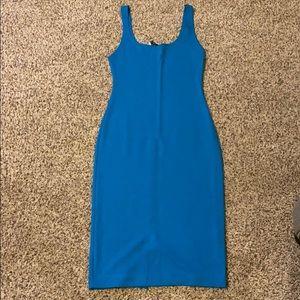 Zara fitted aqua tank dress
